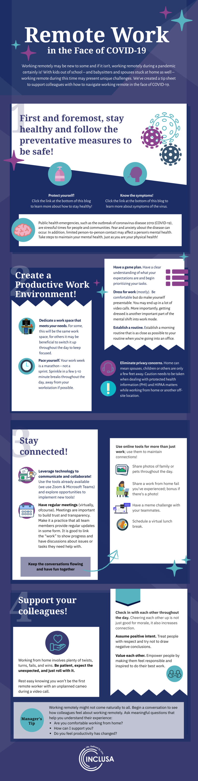 Infographic Working Remote in the Face of COVID-19